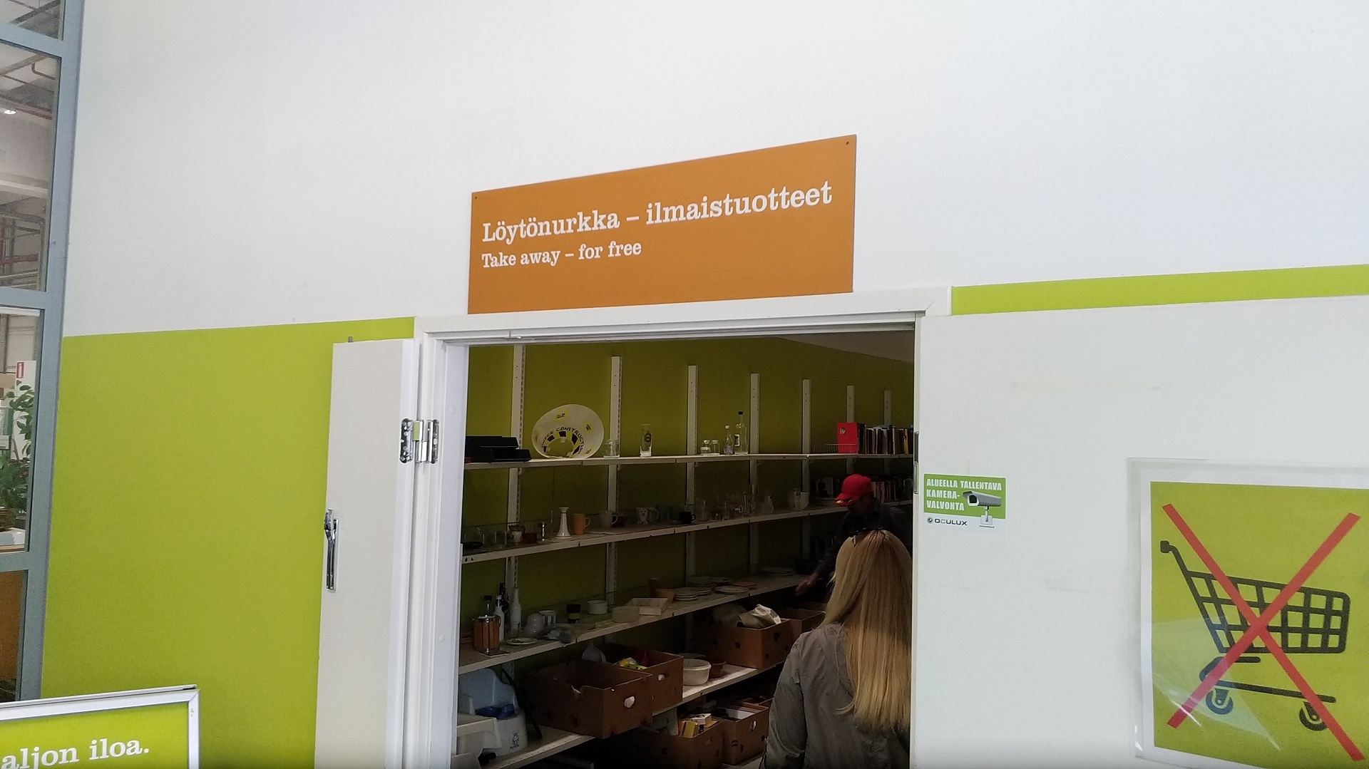 Kierrätyskeskus магазин подержданых вещей в Хельсинки и Эспоо фотография с сайта www.heihei.ru